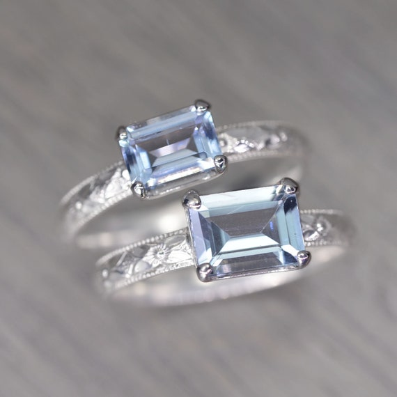 Blue Sunstone Sterling SILVER Ring Solitaire 925 Rings Sizes L,M,N,O,P,R,S,T,U