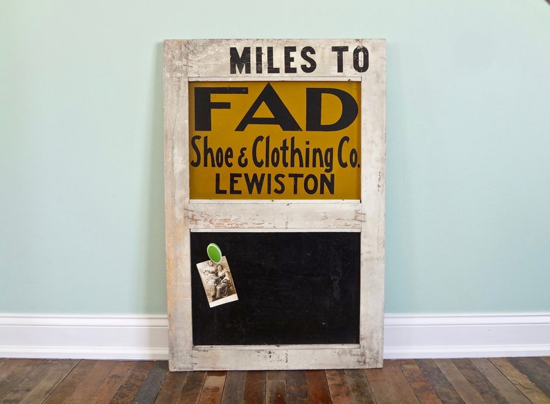 49350e74363 Vintage Advertising Sign   FAD Shoe and Clothing Company