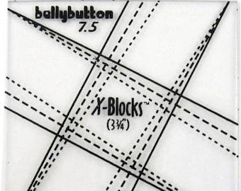 X Blocks Tool B Button 7.5 Quilt Queen Design