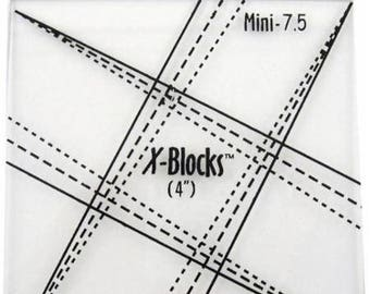 "X Blocks Tool 7.5 (4"") MN Quilt Queen Design"