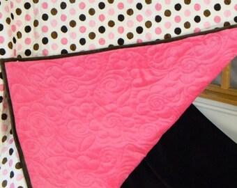 Shannon Minky Jumbo Cuddle Mocha/Pink - Quilt Kit