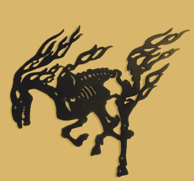 Skeletal Horse Metal Art Gothic Skeleton Wall decor | Etsy