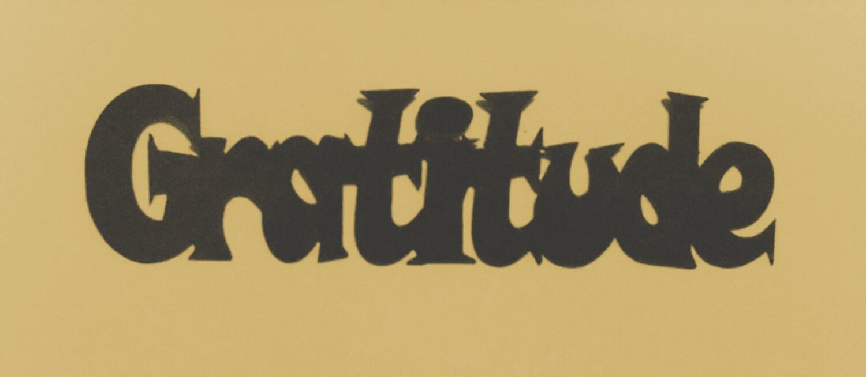 Gratitude Phrase Sign Metal Art Wall Decor Metal Wall Art | Etsy