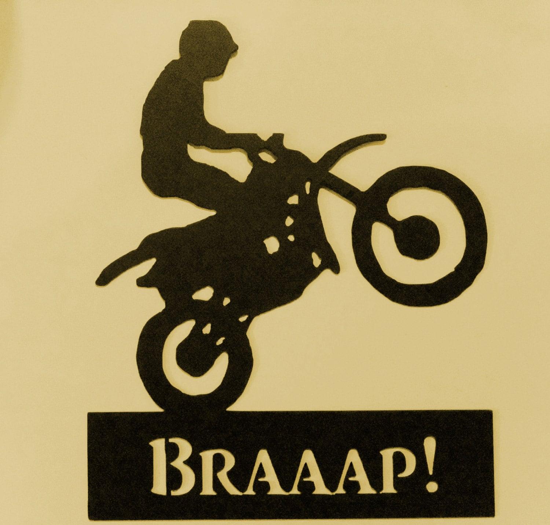 BikerBraaapRiderMetal ArtFreestyle MotocrossDirt   Etsy