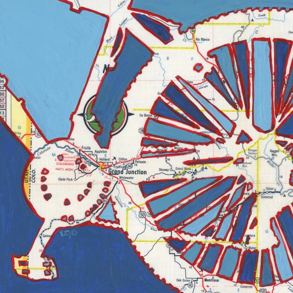 Colorado National Monument Fruita Co: Bike Grand Junction Large Print 20x20 & 24x24 Fruita