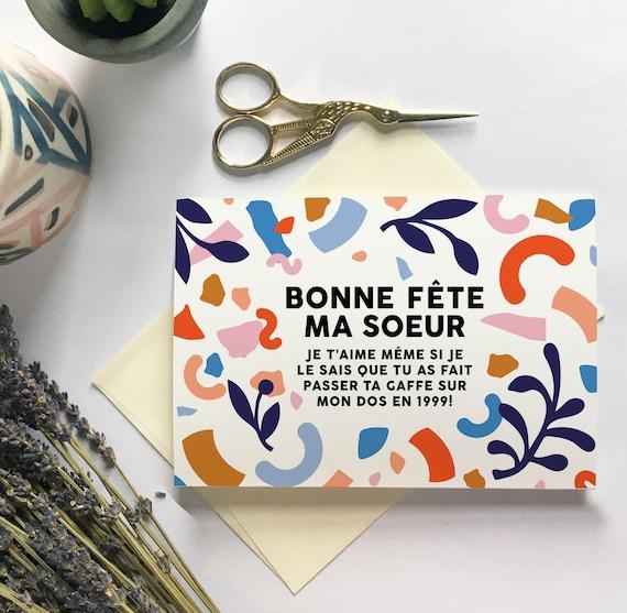 Carte Bonne Fête Ma Soeur