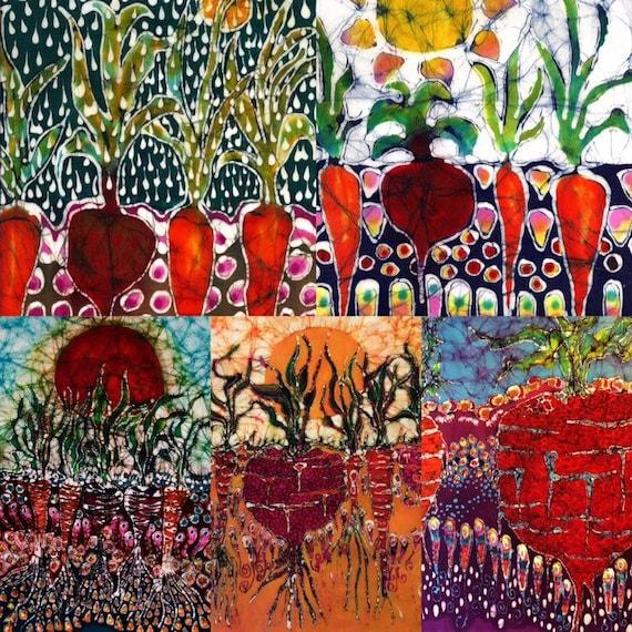 Garden batik Filled With Sunlight fabric from original batik
