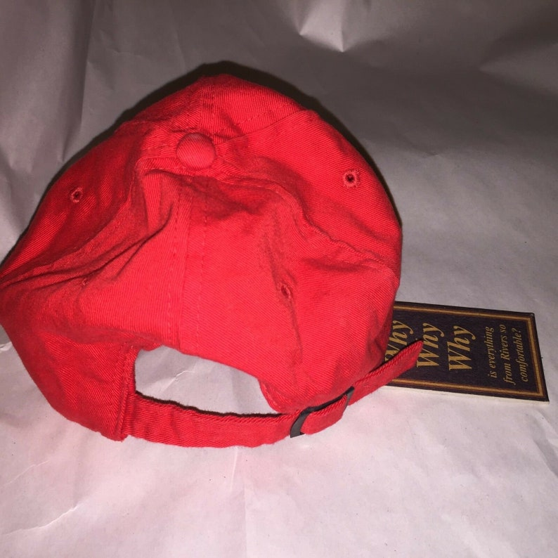 Excellent Vintage with Tags RIVERS Brand baseball cap hat Red color adjustable 7a