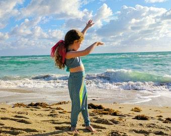 Girl's Mermaid Swim Suit Set: mermaid bikini, mermaid swim suit, mermaid costume, ariel costume, Ariel outfit, mermaid birthday