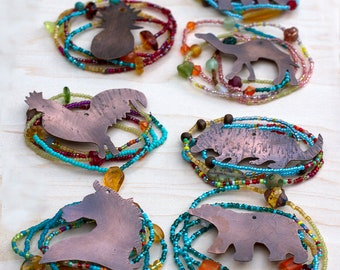 Pick your animal Totem/animal/object charm beaded necklace