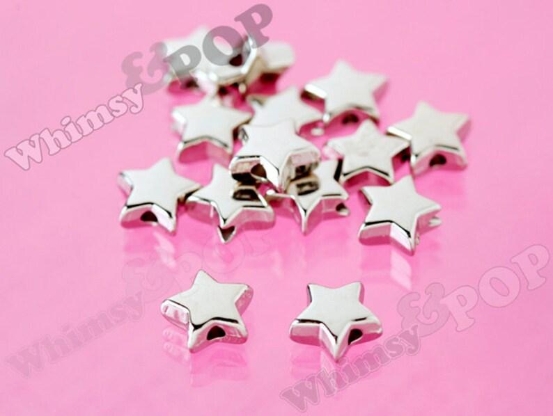 10 x 10mm Resin Black Star Beads