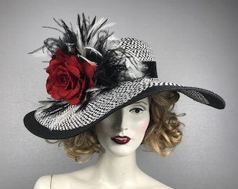 8eab5d6ab50bd Kentucky Derby Hat Horse Race Hat Bridal Shower Hat Church Hat Tea Party Hat  Wedding Hat Sun Hat Fancy Hat