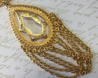 Statement Necklace, Upcycled Vintage, Vintage Pendant, Large Pendant, Vintage Assemblage, Assemblage Necklace, Vintage Necklace