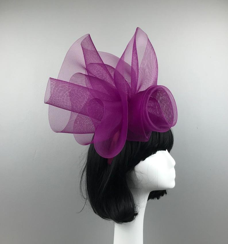 Fascinator Kentucky Derby Hat Horse Race Hat Bridal Shower Hat Church Hat Tea Party Hat Wedding Hat