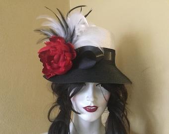 Kentucky Derby Hat - Horse Race Hat - Bridal Shower Hat - Church Hat - Tea Party Hat - Wedding Hat - Sun Hat