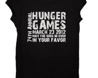 74th Annual Hunger Games Fitted Shirt Size SMALL