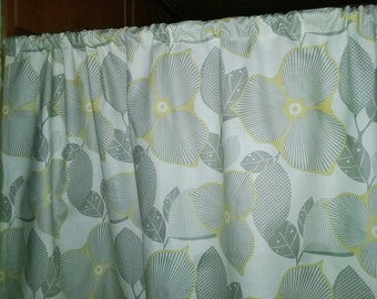SALE Midwest modern Optic Blossom Amy Butler  Valance or Panel  No top ruffle 40 X 12 Unlined