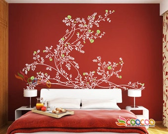 Wall Decor Decal Sticker Removable vinyl LARGE Graceful Peony XL DC0110