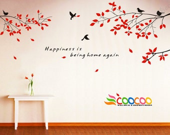 Wall Decal Quote Tree Wall Decal Wall Stickers Removable Vinyl Wall Decal