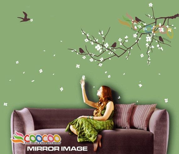 wall decor decal sticker removable vinyl nursery tree plum | etsy