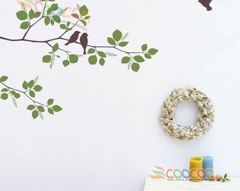 Nursery Wall Decal Tree Wall Decal Tree Branches  Birds DC0126412 Two Colors