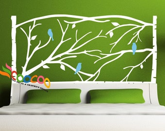 Headboard Decal Tree Branches Wall Sticker King, Queen, Full, Twin