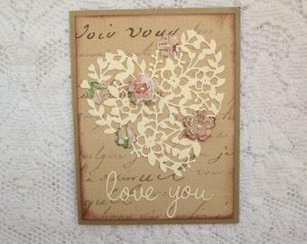 Anniversary Card, Love Card, Love You Card, Heart Card, Valentine Card, Mother's Day Card