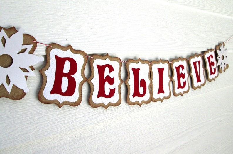 Believe Banner Holiday Banner Christmas Banner Christmas Decoration