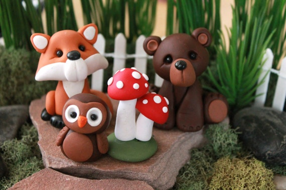 Forest Animals Cake Toppers Animal Cake Topper Birthday | Etsy