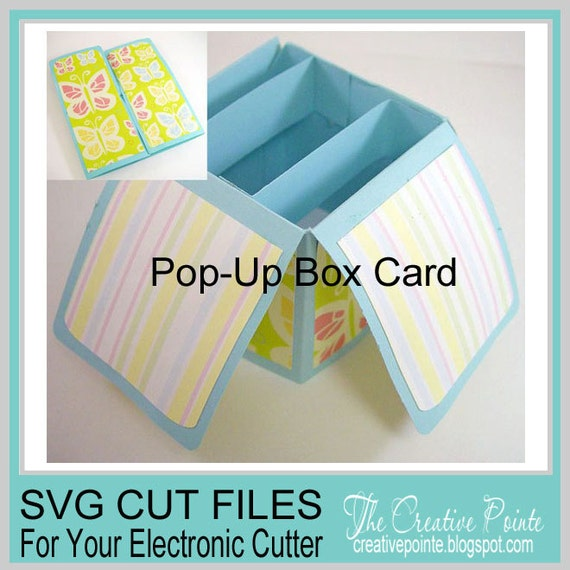 pop up box card svg cutting template only etsy