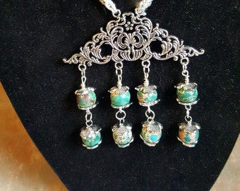 Beautiful Snakeskin Jasper Pendant/Necklace