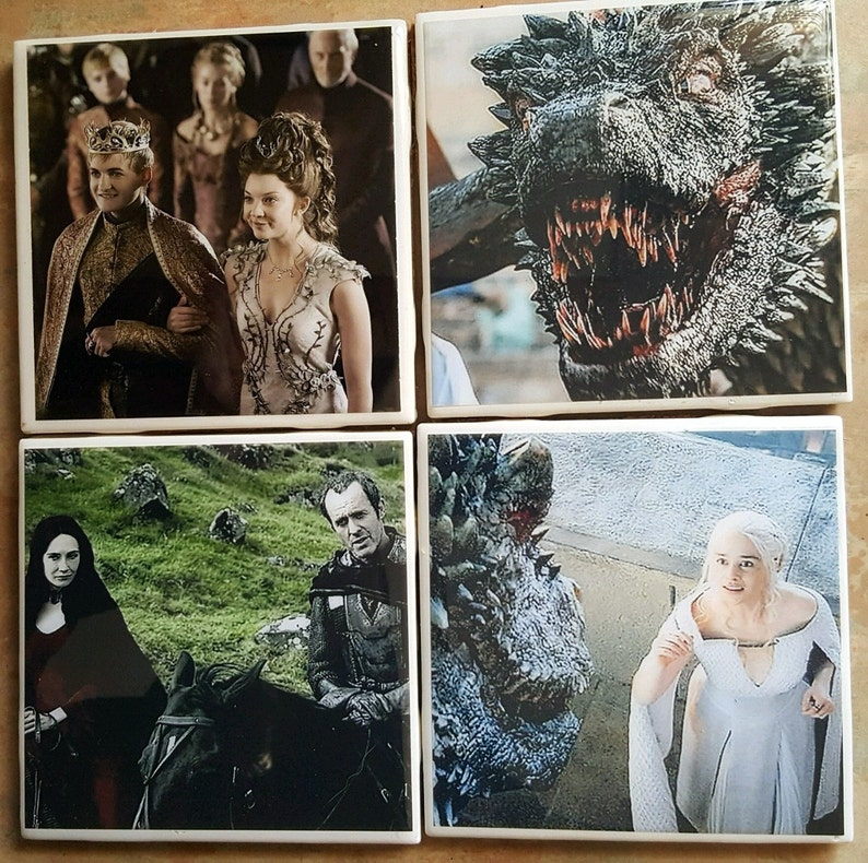 Calling All GOT Fans  Set Of 4 Coasters image 0