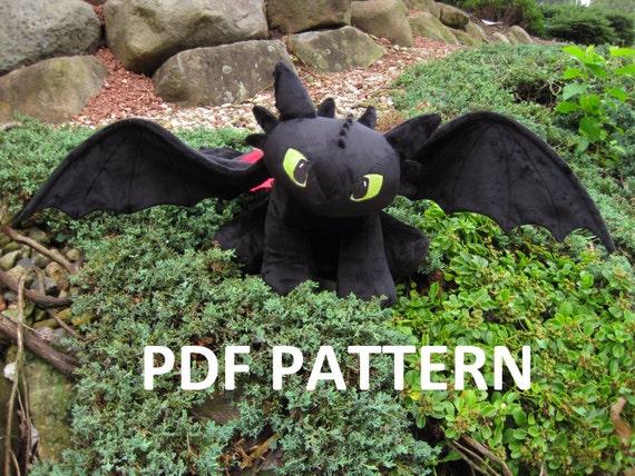 Digital Download Toothless Plush Pattern Night Fury Dragon Etsy