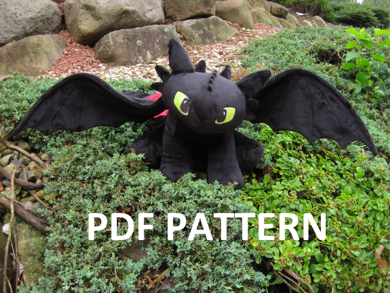 Digital Download: Toothless Plush Pattern Night Fury Dragon ...