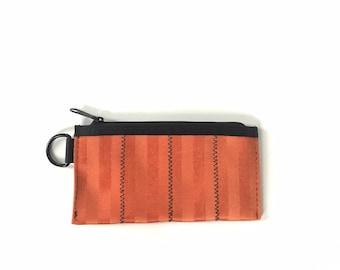 Orange Vegan Pouch with Zipper