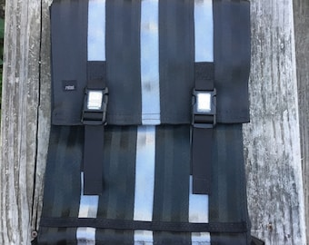 Minimalist Vegan Backpack in Black and Gray
