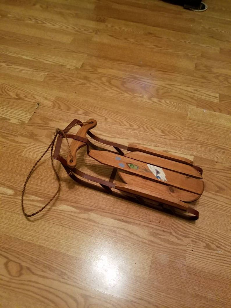 Wooden Tiny Sled With Metal Runners Made In China Pay With Pay Pal