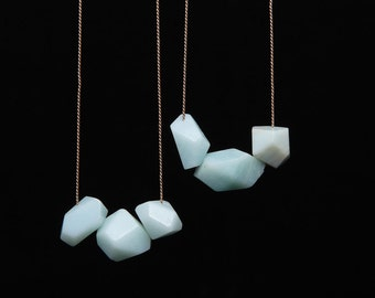 Faceted amazonite neckace