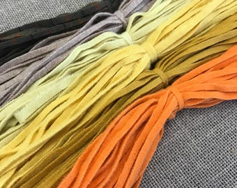 The Halloween Mix - 150 #6 Sized Hand Cut Wool Strips for Rug Hooking
