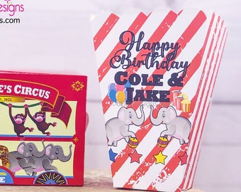 Circus themed loot bags for kids party Large bags in yellow 10ct Vintage party loot bags Made in USA.