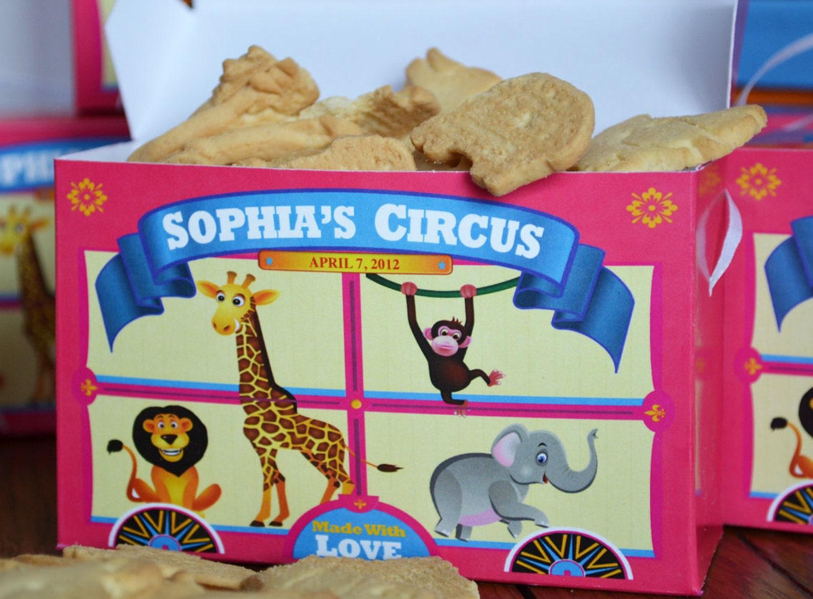 Circus Animal Cracker Treat Boxes
