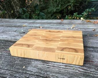 "Ash end-grain cutting board 9"" x 12"""