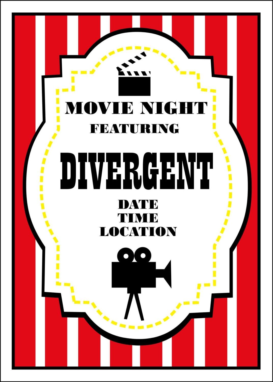 Movie Night Birthday Invitation   Etsy