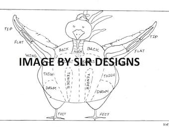Chicken Diagram - Front Veiw