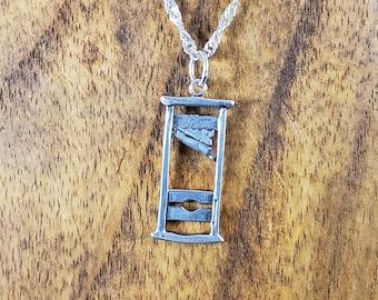 Sterling Silver Guillotine Pendant