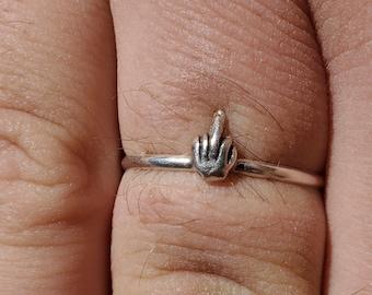 Sterling Silver Middle Finger Ring