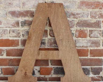 """18"""" Wooden Letter A, Classic Font, Distressed, Modern Rustic- all letters available in many colors"""