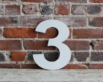 """12"""" Wooden Number 3, Oversize Number, All Numbers, Many Colors Available, Birthdays, Party Decoration, Baby Gift, Baby Photo Prop,"""