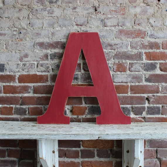 24 wooden letter a alternative wedding guestbook classic font in distressed white all letters available in