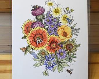 Pollinator Party fine art print